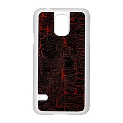 Black And Red Background Samsung Galaxy S5 Case (white) by Amaryn4rt