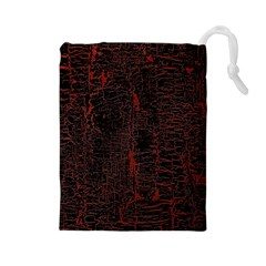 Black And Red Background Drawstring Pouches (large)  by Amaryn4rt