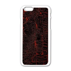 Black And Red Background Apple Iphone 6/6s White Enamel Case by Amaryn4rt