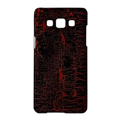 Black And Red Background Samsung Galaxy A5 Hardshell Case  by Amaryn4rt