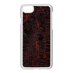 Black And Red Background Apple Iphone 7 Seamless Case (white) by Amaryn4rt