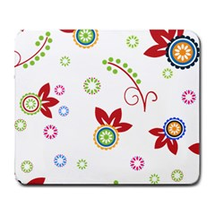 Colorful Floral Wallpaper Background Pattern Large Mousepads by Amaryn4rt