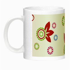 Colorful Floral Wallpaper Background Pattern Night Luminous Mugs by Amaryn4rt