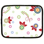 Colorful Floral Wallpaper Background Pattern Netbook Case (Large) Front