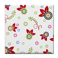 Colorful Floral Wallpaper Background Pattern Face Towel by Amaryn4rt