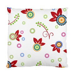 Colorful Floral Wallpaper Background Pattern Standard Cushion Case (two Sides) by Amaryn4rt