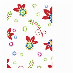 Colorful Floral Wallpaper Background Pattern Large Garden Flag (two Sides) by Amaryn4rt