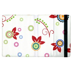 Colorful Floral Wallpaper Background Pattern Apple Ipad 2 Flip Case by Amaryn4rt
