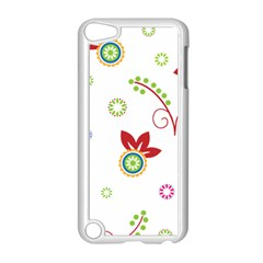 Colorful Floral Wallpaper Background Pattern Apple Ipod Touch 5 Case (white) by Amaryn4rt