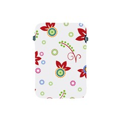 Colorful Floral Wallpaper Background Pattern Apple Ipad Mini Protective Soft Cases by Amaryn4rt