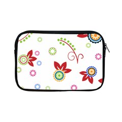 Colorful Floral Wallpaper Background Pattern Apple Ipad Mini Zipper Cases by Amaryn4rt