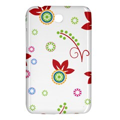 Colorful Floral Wallpaper Background Pattern Samsung Galaxy Tab 3 (7 ) P3200 Hardshell Case  by Amaryn4rt