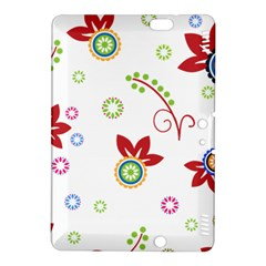 Colorful Floral Wallpaper Background Pattern Kindle Fire Hdx 8 9  Hardshell Case by Amaryn4rt