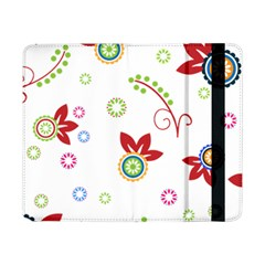 Colorful Floral Wallpaper Background Pattern Samsung Galaxy Tab Pro 8 4  Flip Case by Amaryn4rt