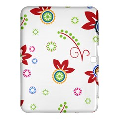Colorful Floral Wallpaper Background Pattern Samsung Galaxy Tab 4 (10 1 ) Hardshell Case  by Amaryn4rt