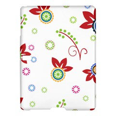 Colorful Floral Wallpaper Background Pattern Samsung Galaxy Tab S (10 5 ) Hardshell Case  by Amaryn4rt