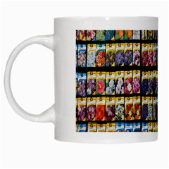 Flower Seeds For Sale At Garden Center Pattern White Mugs by Amaryn4rt