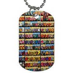 Flower Seeds For Sale At Garden Center Pattern Dog Tag (one Side) by Amaryn4rt