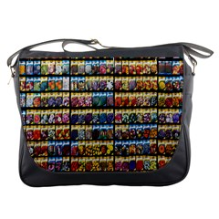 Flower Seeds For Sale At Garden Center Pattern Messenger Bags by Amaryn4rt