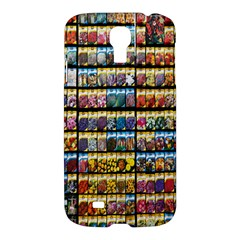 Flower Seeds For Sale At Garden Center Pattern Samsung Galaxy S4 I9500/i9505 Hardshell Case by Amaryn4rt