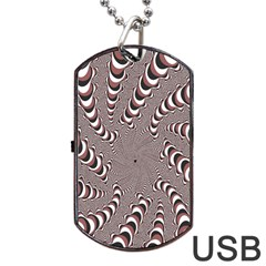 Digital Fractal Pattern Dog Tag Usb Flash (two Sides)