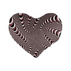 Digital Fractal Pattern Standard 16  Premium Heart Shape Cushions by Amaryn4rt