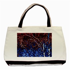 Autumn Fractal Forest Background Basic Tote Bag by Amaryn4rt