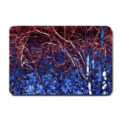 Autumn Fractal Forest Background Small Doormat  by Amaryn4rt
