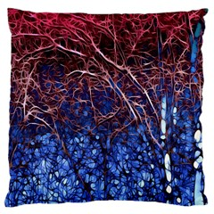 Autumn Fractal Forest Background Large Cushion Case (one Side) by Amaryn4rt