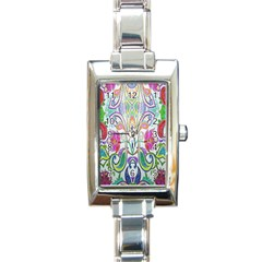 Wallpaper Created From Coloring Book Rectangle Italian Charm Watch by Amaryn4rt