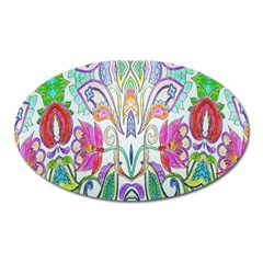 Wallpaper Created From Coloring Book Oval Magnet by Amaryn4rt