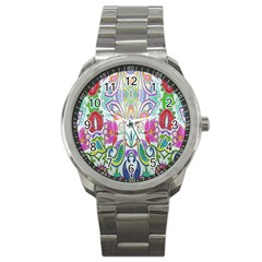 Wallpaper Created From Coloring Book Sport Metal Watch by Amaryn4rt