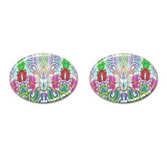 Wallpaper Created From Coloring Book Cufflinks (oval) by Amaryn4rt
