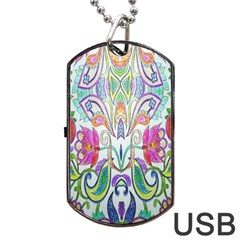 Wallpaper Created From Coloring Book Dog Tag Usb Flash (one Side) by Amaryn4rt