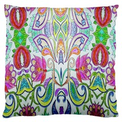 Wallpaper Created From Coloring Book Large Cushion Case (two Sides) by Amaryn4rt