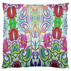 Wallpaper Created From Coloring Book Large Flano Cushion Case (two Sides) by Amaryn4rt