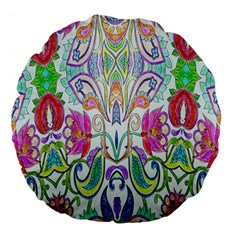 Wallpaper Created From Coloring Book Large 18  Premium Flano Round Cushions by Amaryn4rt