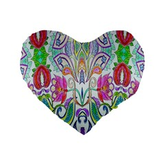 Wallpaper Created From Coloring Book Standard 16  Premium Flano Heart Shape Cushions by Amaryn4rt