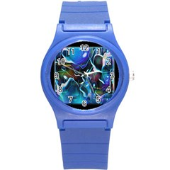 Water Is The Future Round Plastic Sport Watch (s) by Amaryn4rt