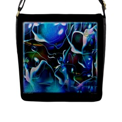 Water Is The Future Flap Messenger Bag (l)  by Amaryn4rt