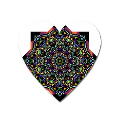Mandala Abstract Geometric Art Heart Magnet by Amaryn4rt