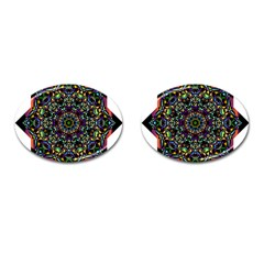 Mandala Abstract Geometric Art Cufflinks (oval) by Amaryn4rt