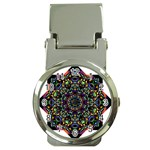 Mandala Abstract Geometric Art Money Clip Watches Front