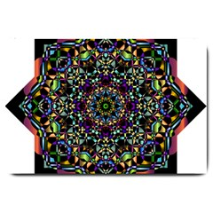 Mandala Abstract Geometric Art Large Doormat  by Amaryn4rt