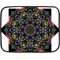 Mandala Abstract Geometric Art Fleece Blanket (mini) by Amaryn4rt