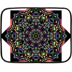 Mandala Abstract Geometric Art Double Sided Fleece Blanket (mini)  by Amaryn4rt