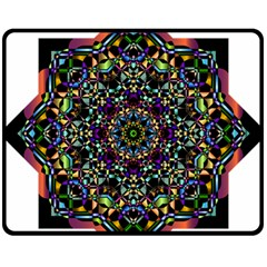 Mandala Abstract Geometric Art Fleece Blanket (medium)  by Amaryn4rt