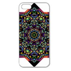 Mandala Abstract Geometric Art Apple Seamless Iphone 5 Case (clear) by Amaryn4rt