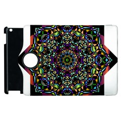Mandala Abstract Geometric Art Apple Ipad 2 Flip 360 Case by Amaryn4rt
