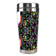 Mandala Abstract Geometric Art Stainless Steel Travel Tumblers by Amaryn4rt